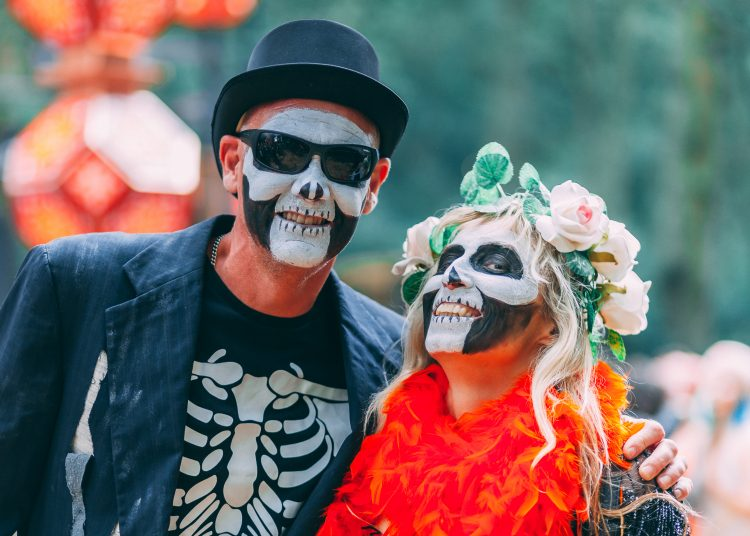 man and woman with painted faces at Noisily Festival 2019