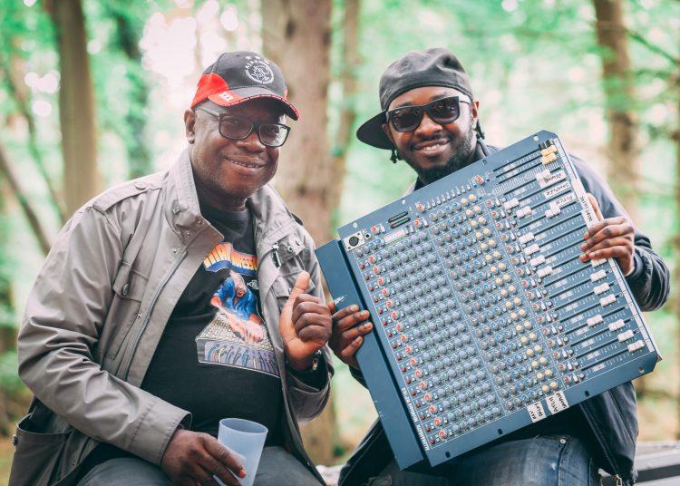 two men holding audio equipment at Noisily Festival 2019