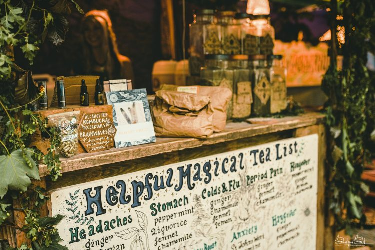 Storefront displaying list of drinks for sale at Noisily Festival 2019