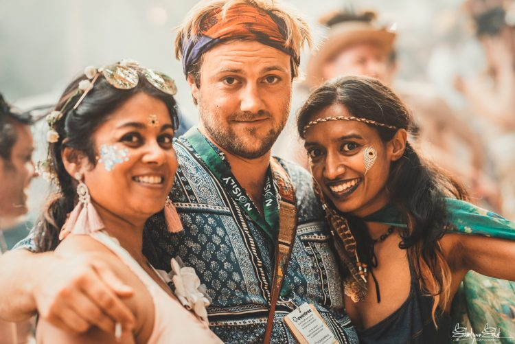group of Noisily festival 2018 friends smiling