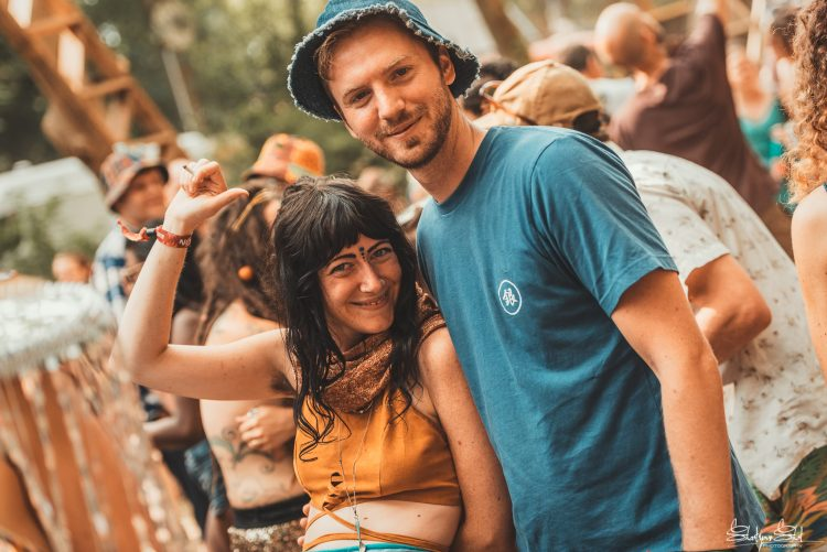male and female Noisily Festival 2018 attendees smiling